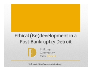 Session 1 Detroit bankruptcy Equitable Development in a Post Bankruptcy Detroit Chase Cantrell pdf